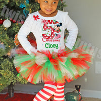 Girls Minnie Christmas Tutu Outfit
