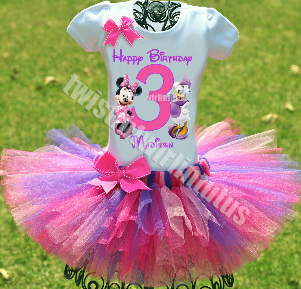 Minnie and Daisy Birthday Outfit