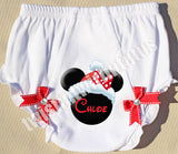 Christmas Minnie Baby Bloomers