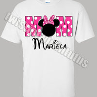 Mom Minnie Mouse Birthday Shirt