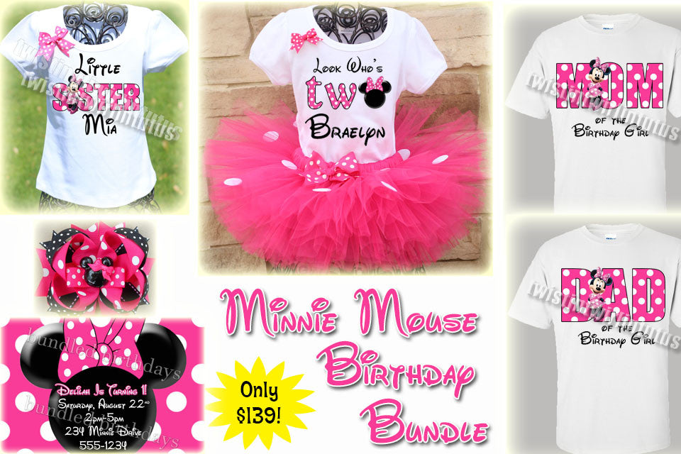 Minnie Mouse Birthday Bundle