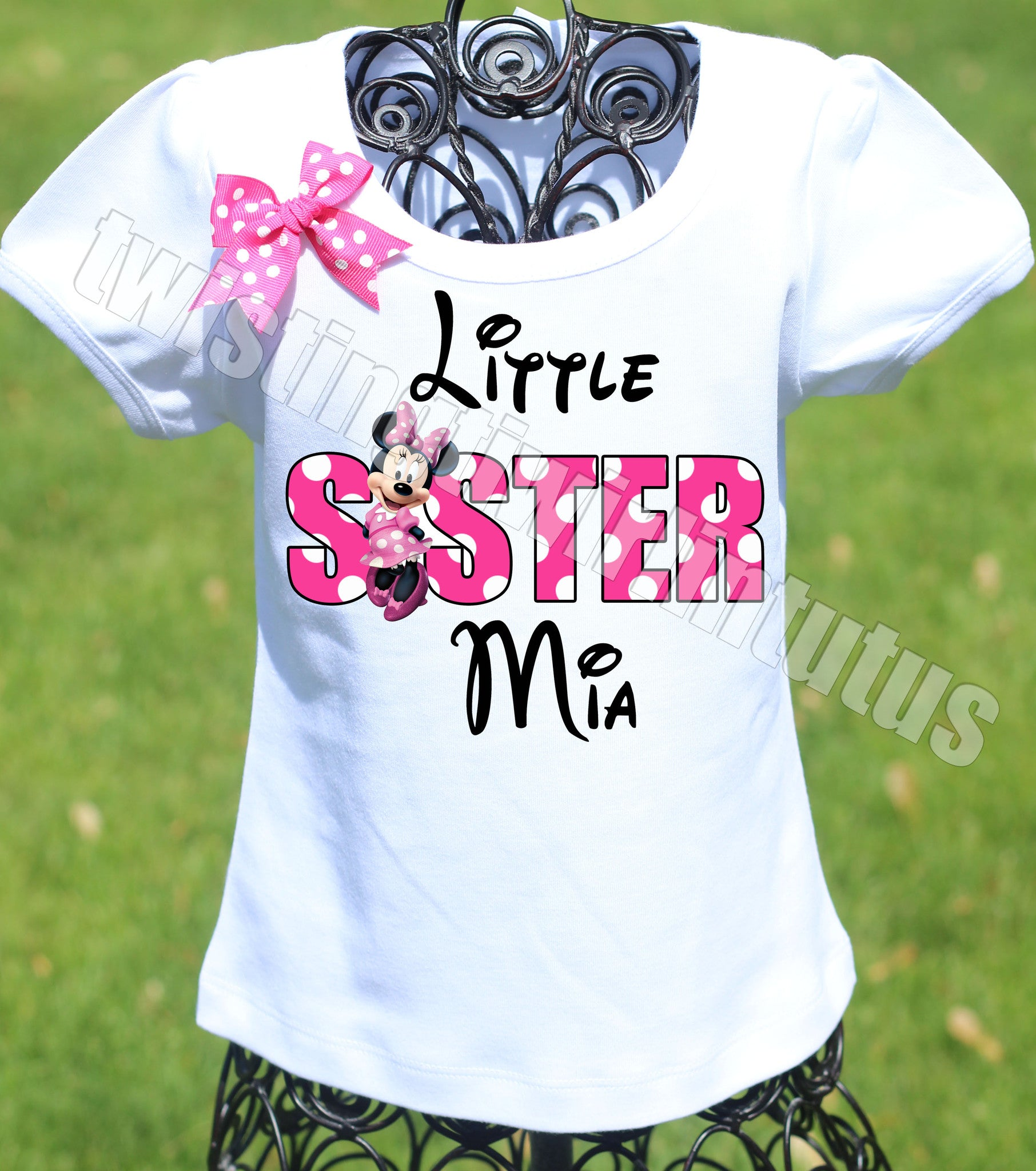 Minnie Mouse Sister Birthday Shirt