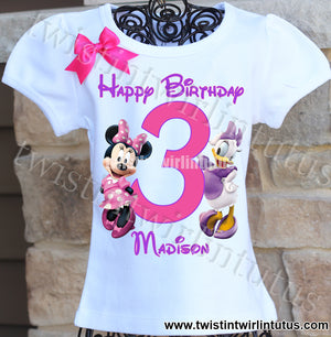Minnie and Daisy Birthday Shirt