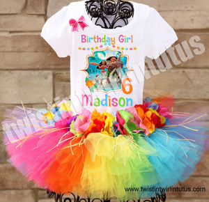 Hawaiian Moana Birthday Tutu Outfit