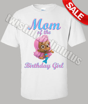 Bubble Guppies Molly Mom Birthday Shirt