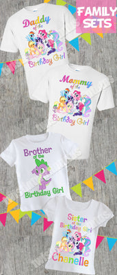 My Little Pony Family Birthday Shirts