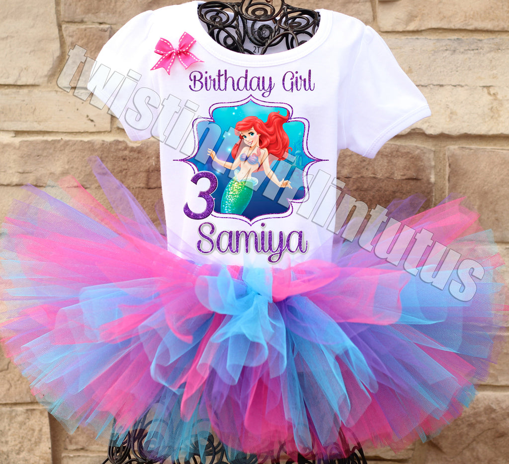 Little Mermaid Ariel Birthday Tutu Outfit