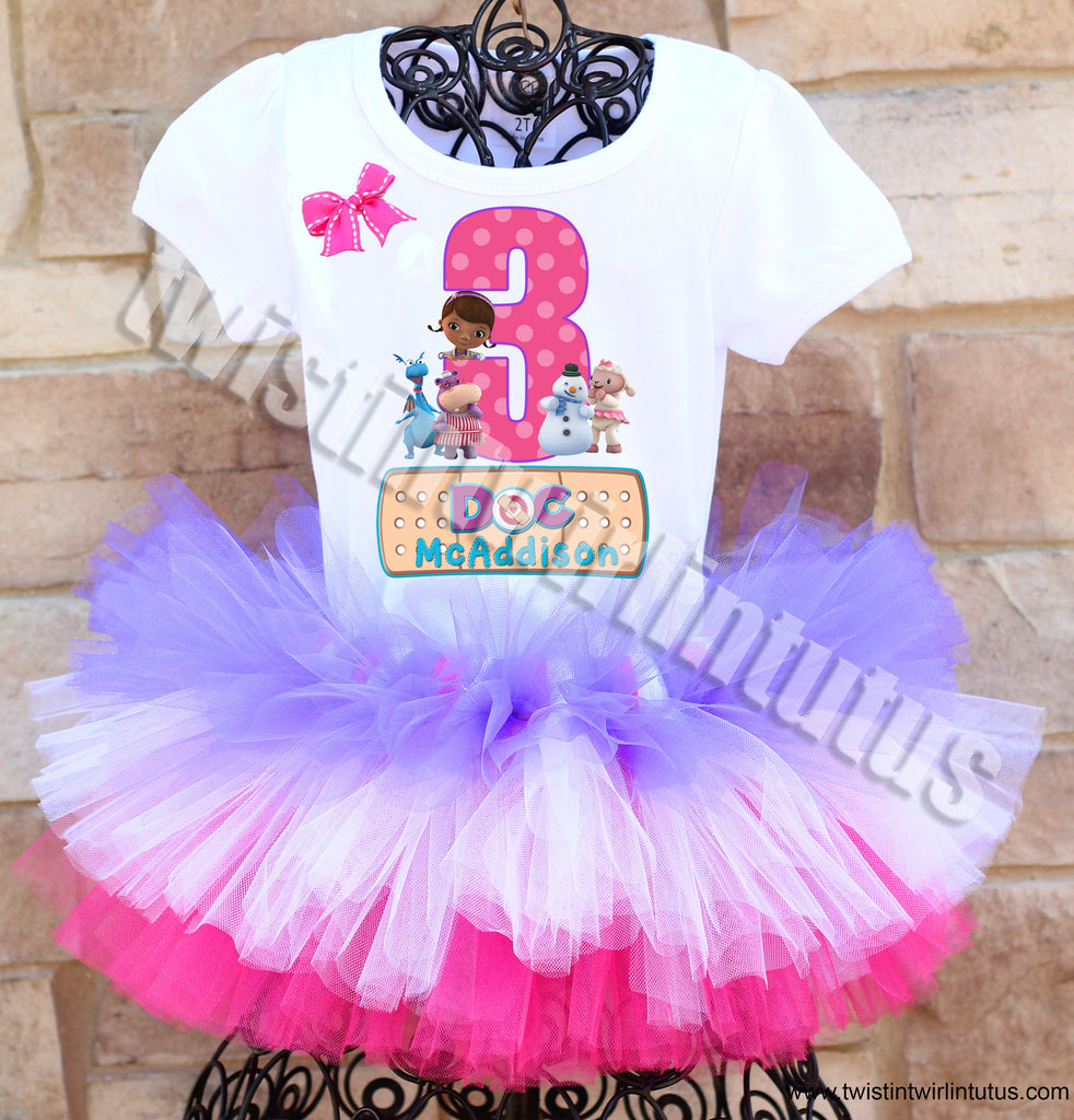 Doc McStuffins Birthday Tutu Outfit Layered