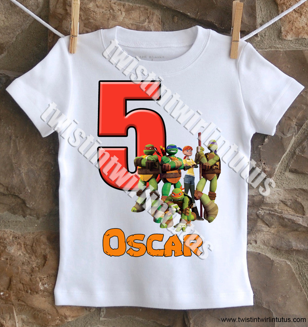 Ninja Turtles Birthday Shirt