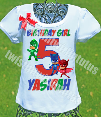 PJ Mask Birthday Shirt