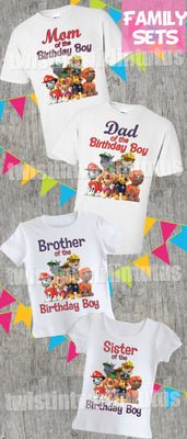 Paw Patrol Family Shirt Set