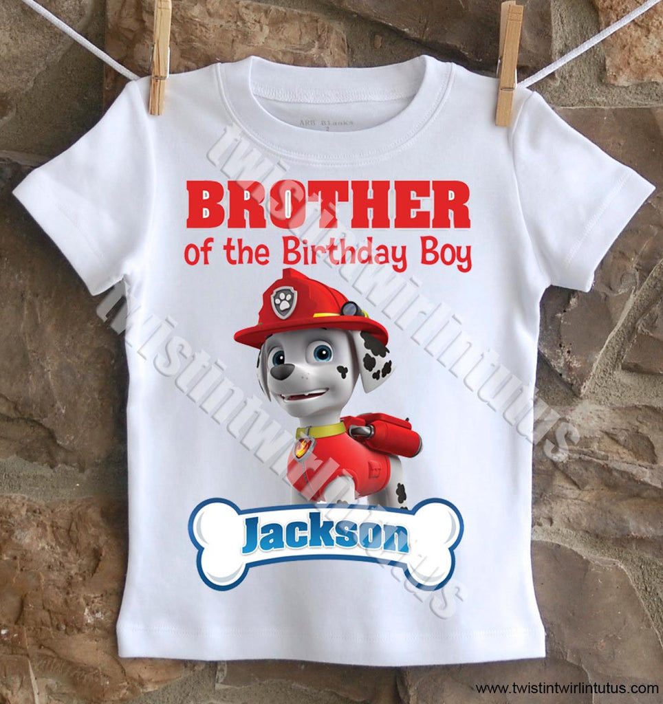 Paw Patrol Sister Birthday Shirt Twistin Twirlin Tutus