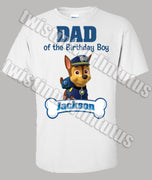 Paw Patrol Dad Shirt