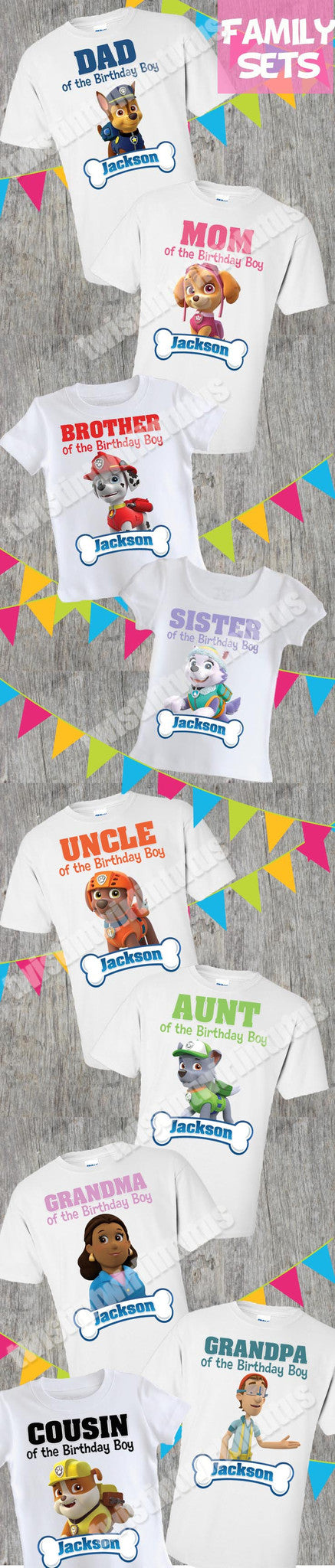 Paw Patrol Family Shirts