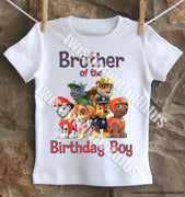 Paw Patrol Brother Birthday Shirt
