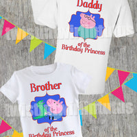 Peppa Pig Family Birthday Shirts