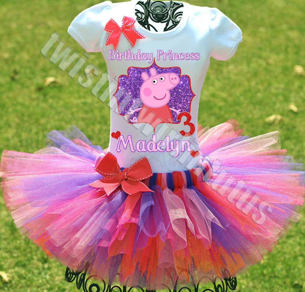 Peppa Pig Birthday Tutu