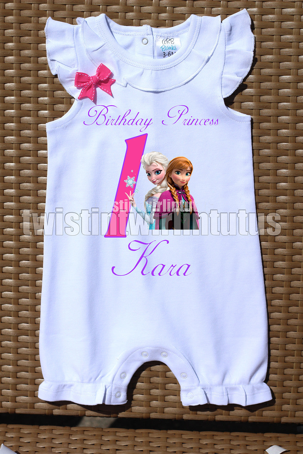 Frozen Birthday Romper