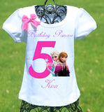 Elsa and Anna Birthday Shirt