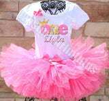 Pink and Gold First Birthday Princess Outfit