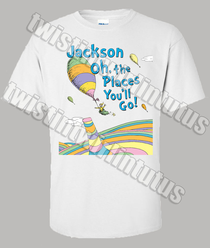 Adult Dr. Seuss Graduation Shirt