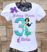 Princess Jasmine Birthday Shirt