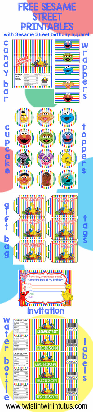 Sesame Street Birthday Party Printables