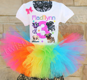 Puppy Dog Pals Rainbow birthday tutu outfit