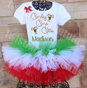 Christmas Outfit Candy Cane Cutie Tutu Outfit