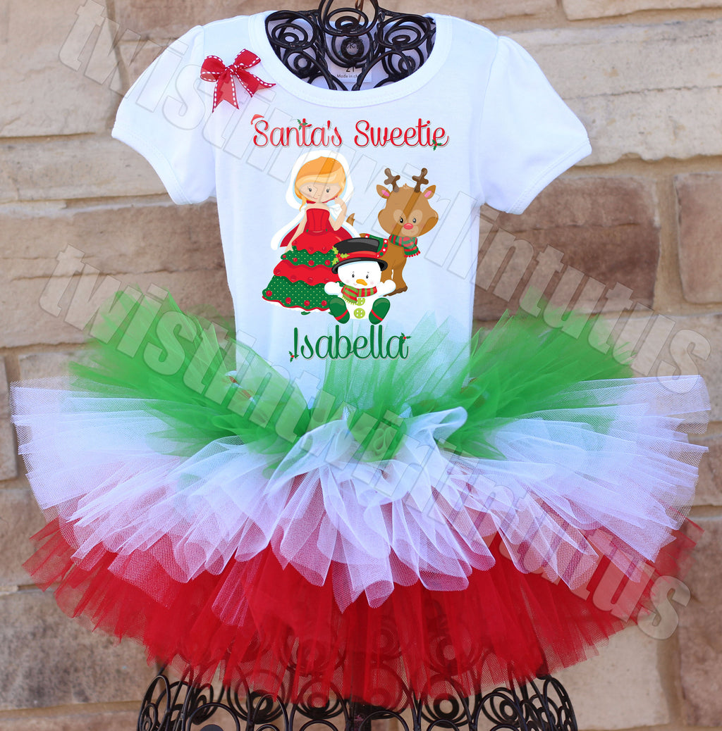 Santas Sweetie Christmas Outfit