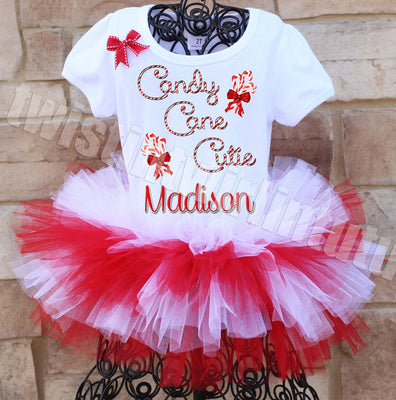 Christmas Tutu Outfit Candy Cane Cutie