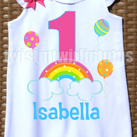 Rainbow Birthday Romper