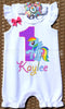 Rainbow Dash Birthday Romper