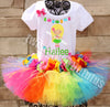 rainbow hawaiian luau birthday outfit