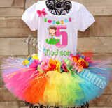 rainbow hawaiian birthday outfit
