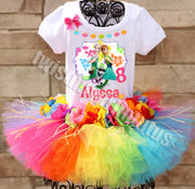 rainbow hawaiian frozen fever outfit
