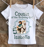 Rapunzel Cousin Birthday Shirt