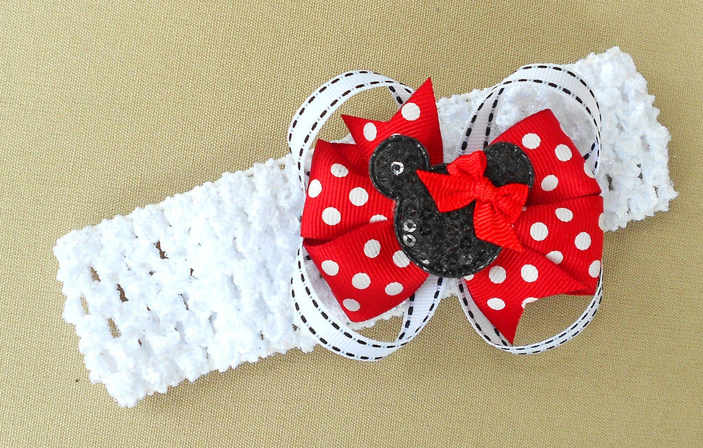 Red Minnie Mouse Headband