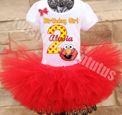 Elmo Birthday Tutu Outfit