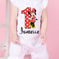 Red Minnie Mouse First Birthday Outfit