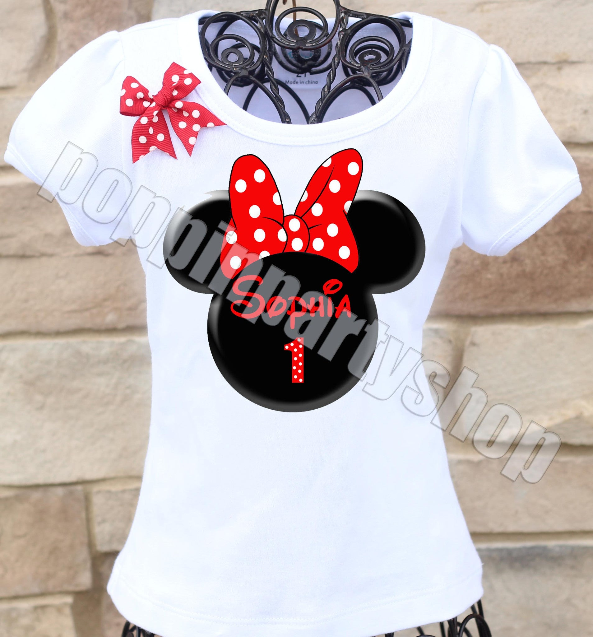 Red Minnie Mouse Shirt