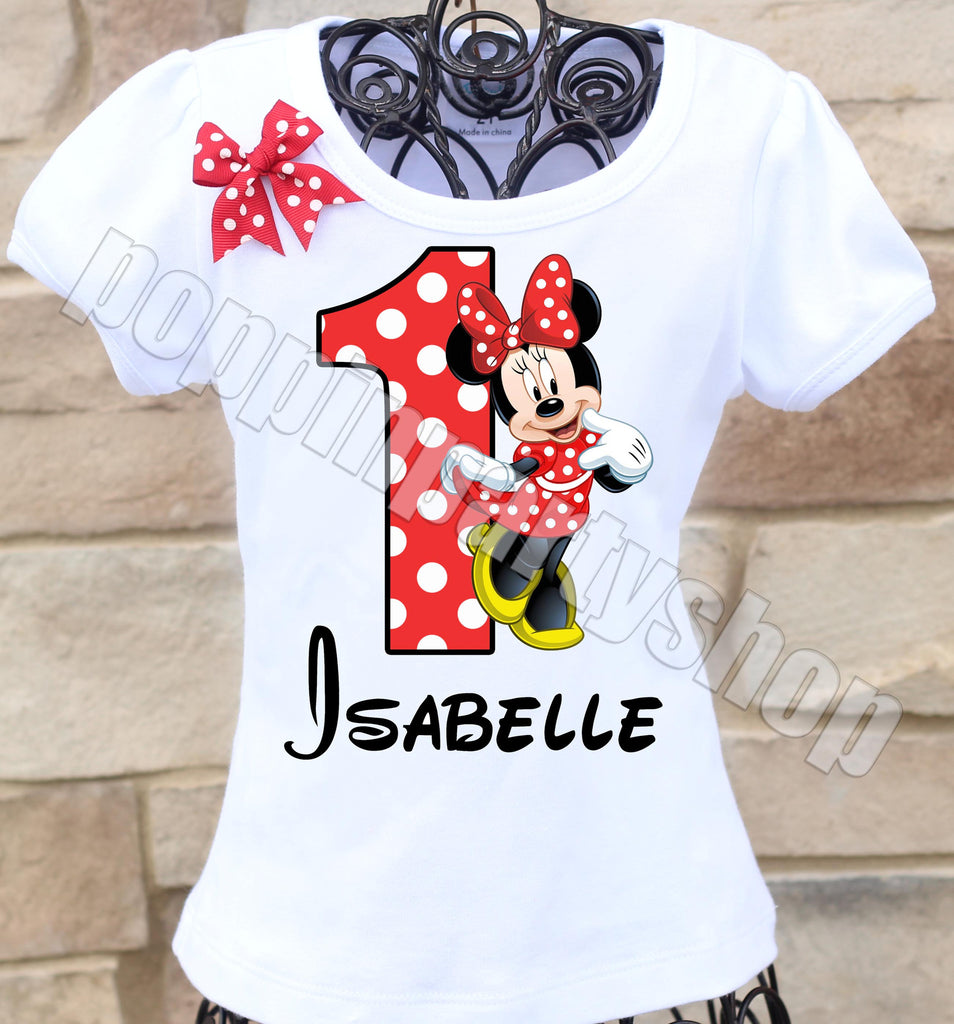 Red Minnie Birthday Shirt