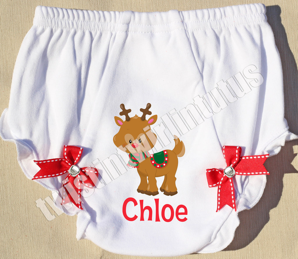 Christmas Jingle Bell Bloomers Reindeer