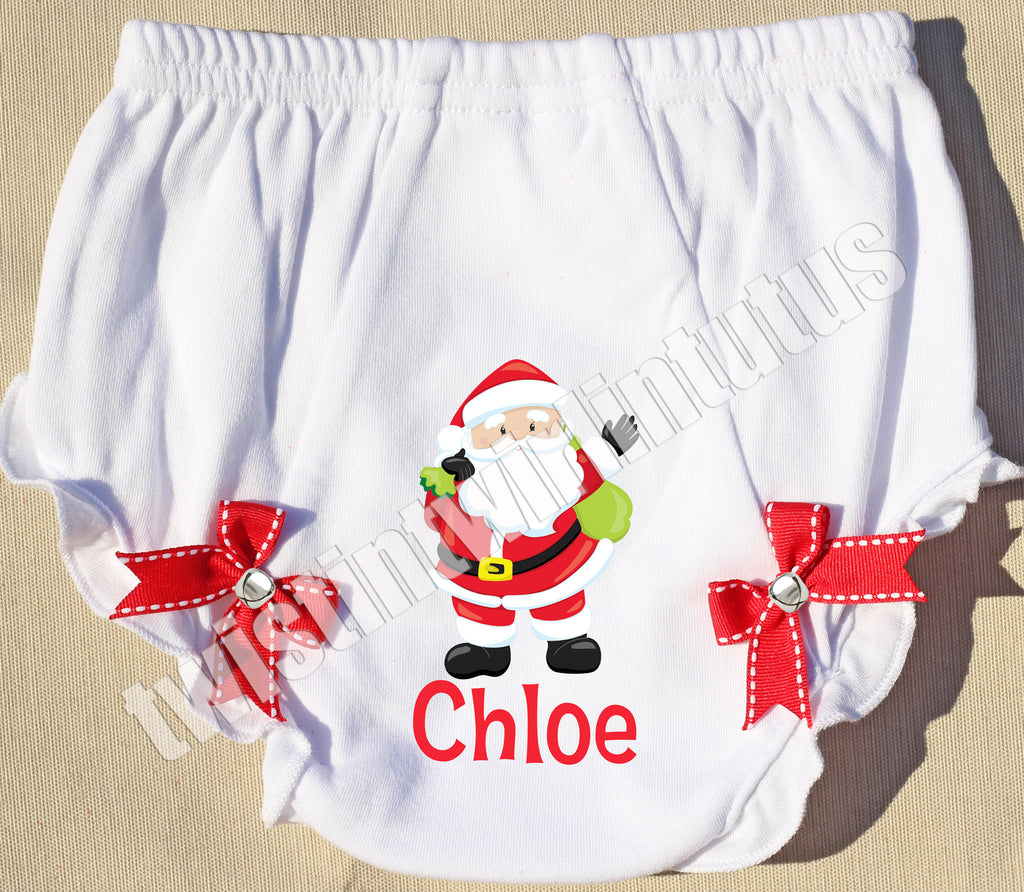 Christmas Jingle Bell Bloomers Santa