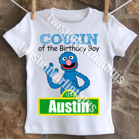 Sesame Street Birthday Shirt Family Set
