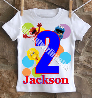 Sesame Street Birthday Shirt