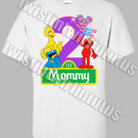 Sesame Street mommy shirt