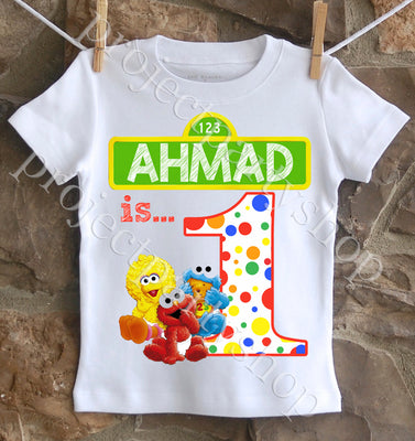 Sesame Street First Birthday Shirt