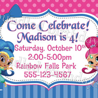 Shimmer and Shine Birthday Invitation