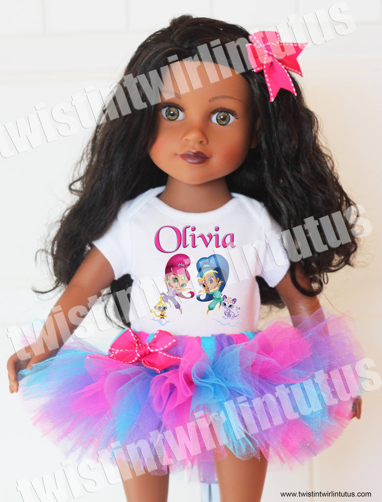 Shimmer And Shine 18 Quot Doll Outfit Twistin Twirlin Tutus